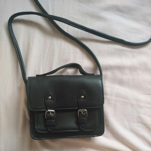 Mini Black Satchel Cross Body Bag
