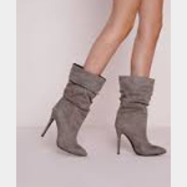 Misguided Faux Suede Stiletto Boot