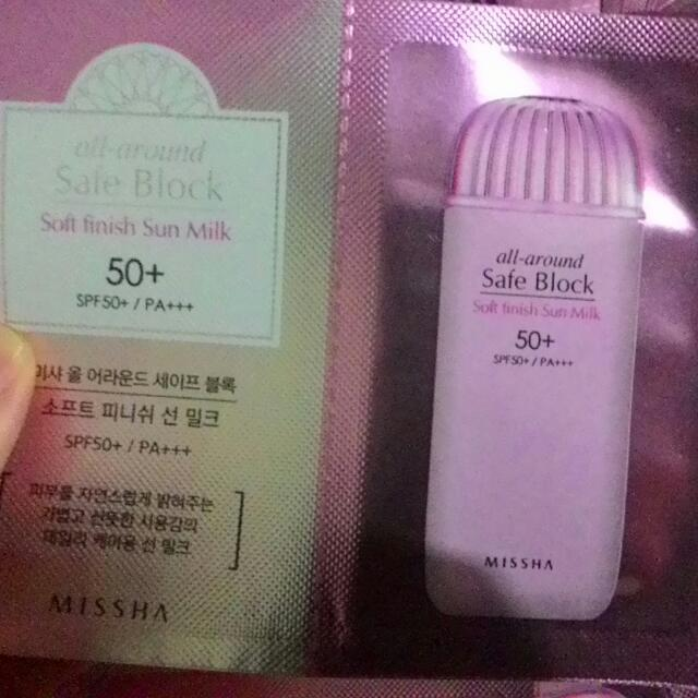 MISSHA ALL AROUND SAFE BLOCK SOFT FINISH SUN MILK 50+/PA+++