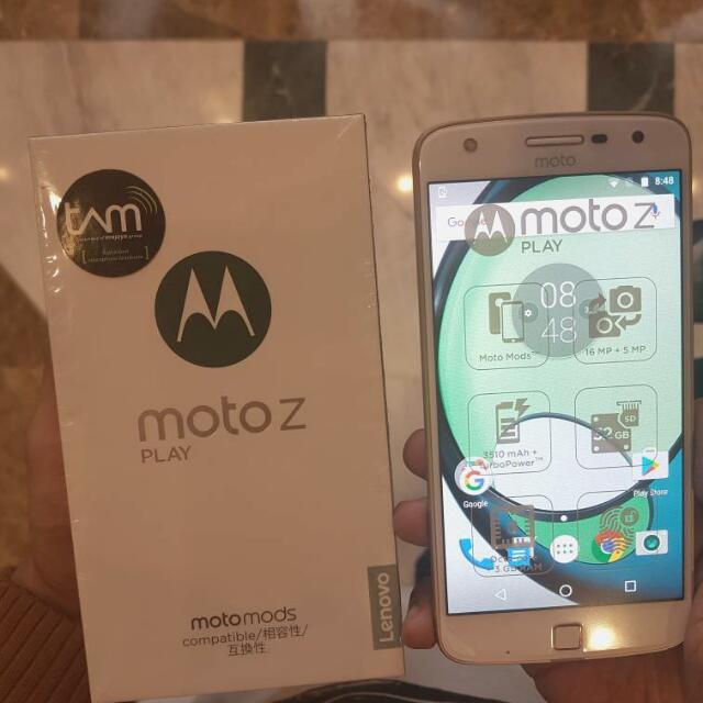 Motorola Moto Z Play (White) - Garansi Resmi TAM