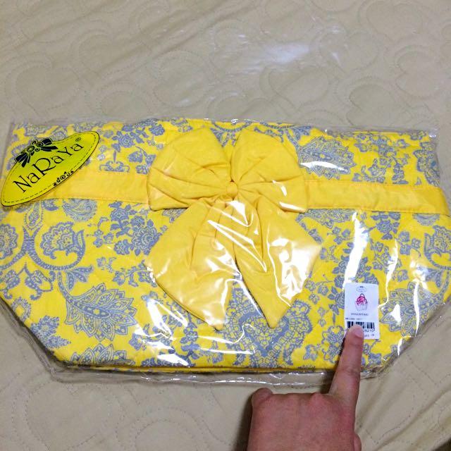 Naraya 黃色系 典雅黃 中型手提包 bath