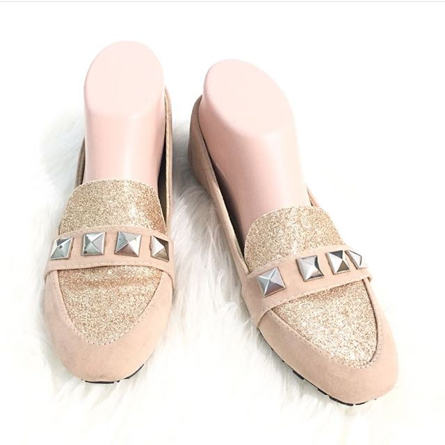 New Glitter Loafers Size 38