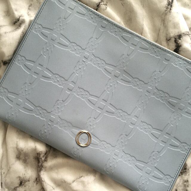 New Oroton Saffiano Leather Clutch