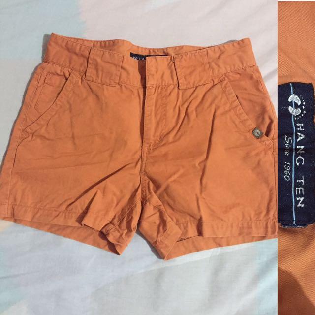 Orange Hang Ten Shorts