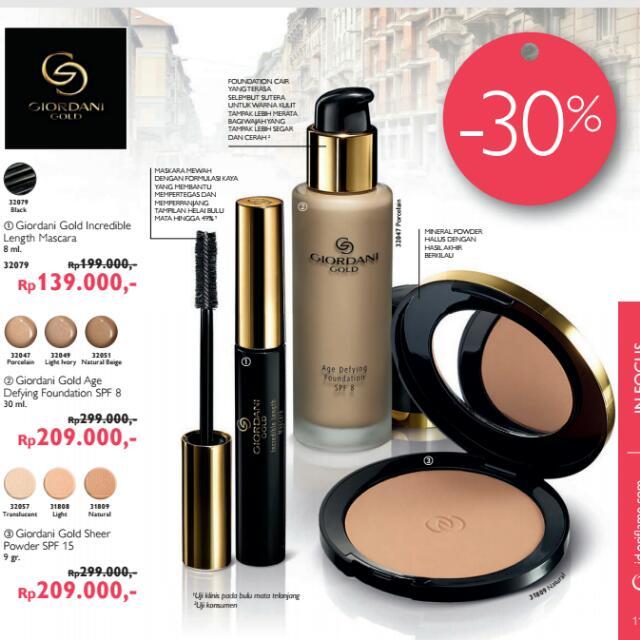 ORIFLAME mascara, Bedak , Foundation The One