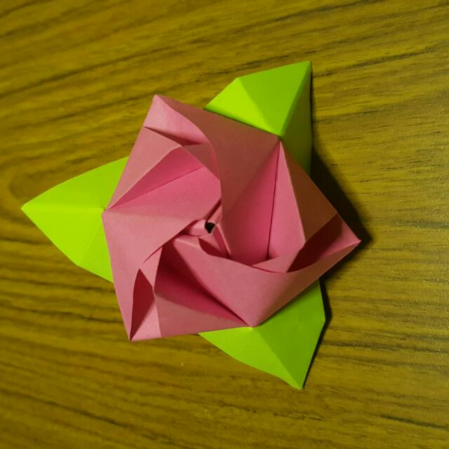 Origami Magic Rose Cube Design Craft Artwork On Carousell