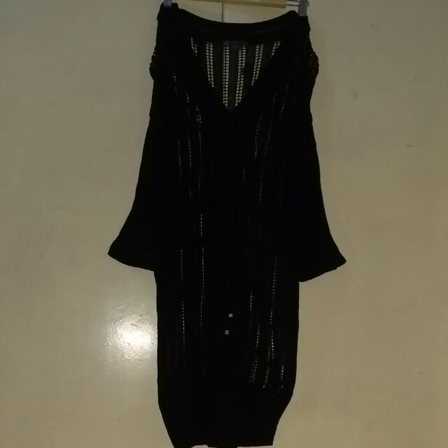 Original Armani Knitted See Through Topper