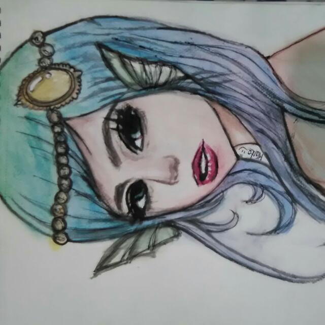 Original Magical Mermaid Watercolor Painting 😊