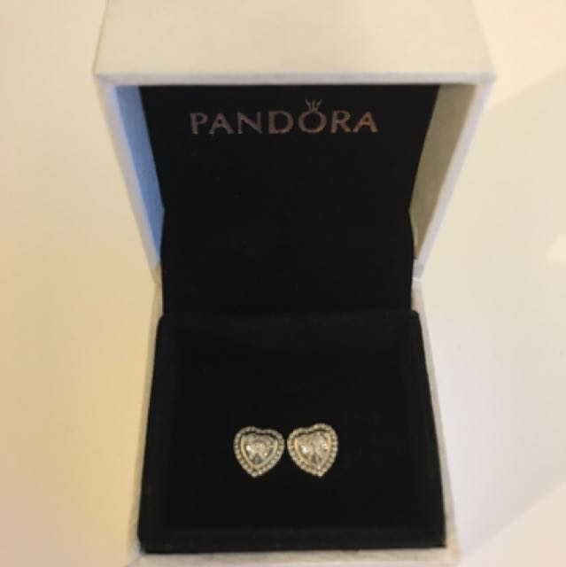 PANDORA Sparkling Love Earring Studs
