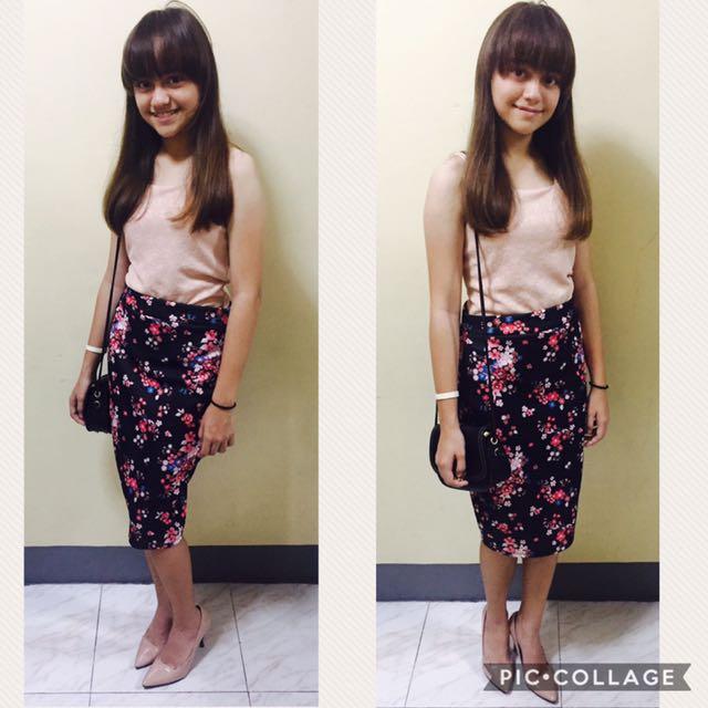 Pencil Cut Knee Length Skirts