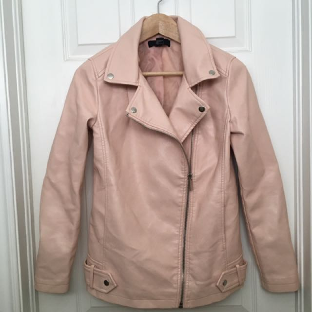 Pink Forever 21 Moto Jacket