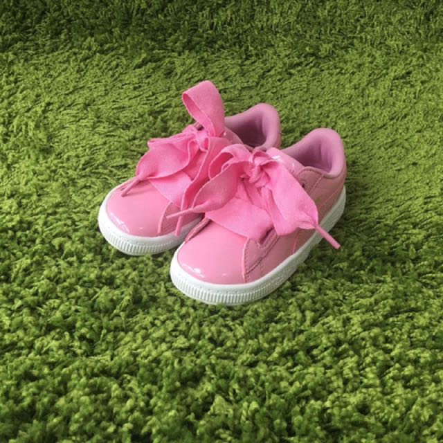 outlet store f9ef2 2892e Puma Basket Heart Infant - Prism Pink Patent on Carousell