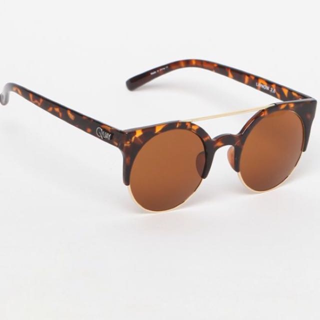 Quay Live Now Sunglasses - Brown And Gold. Princess polly