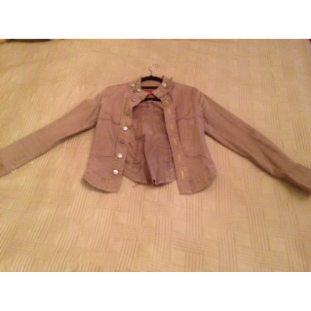 Quirky beige jacket