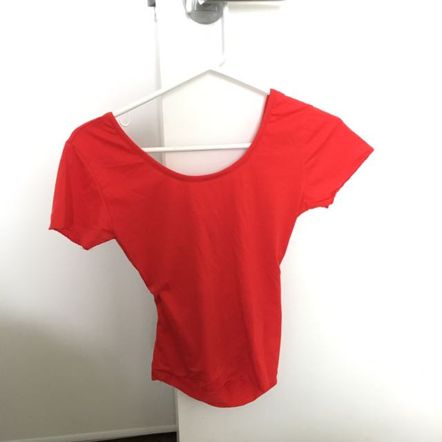 Red TEE With Back Detail
