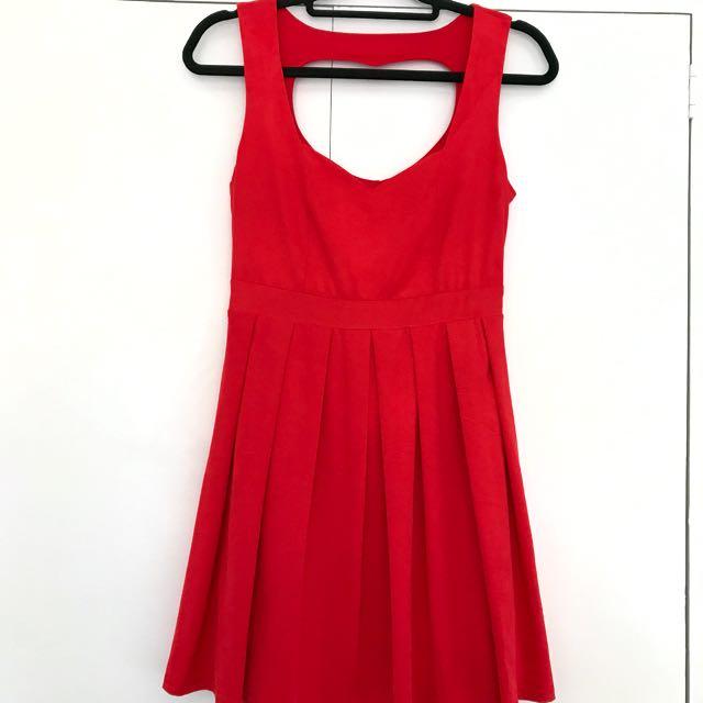 Red Velvetfeel Dress