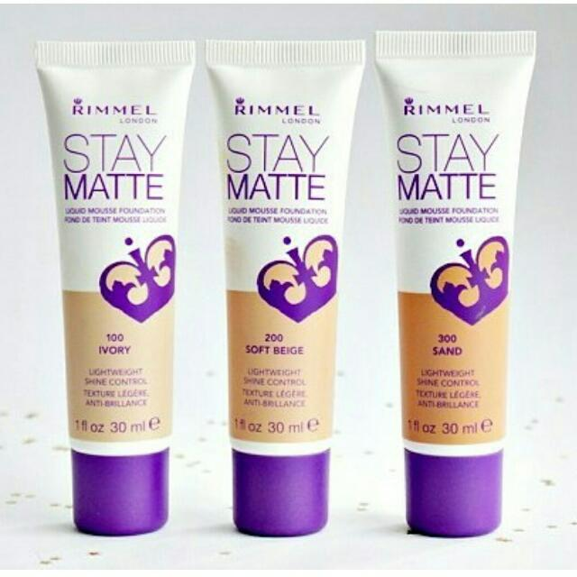 rimmel stay matte liquid mousse foundie