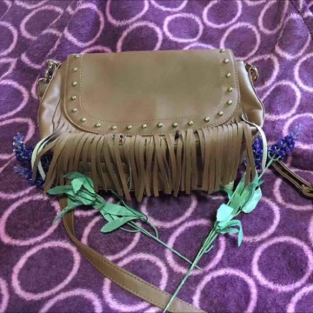 Shoulder Brown Fringe Bag