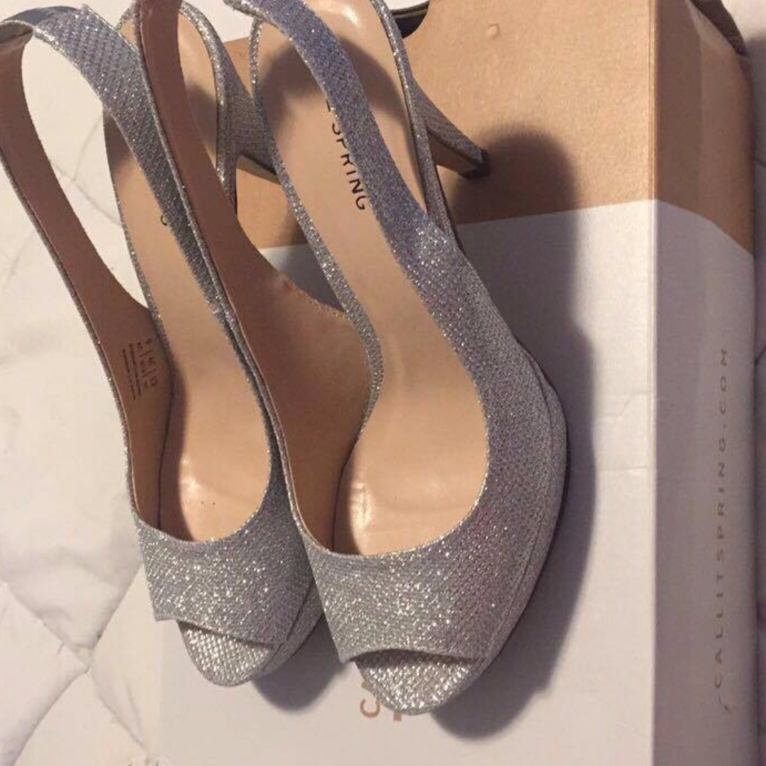 Silver Sparkley Heels