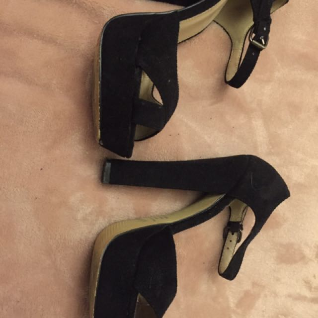 Size Five Black Heels
