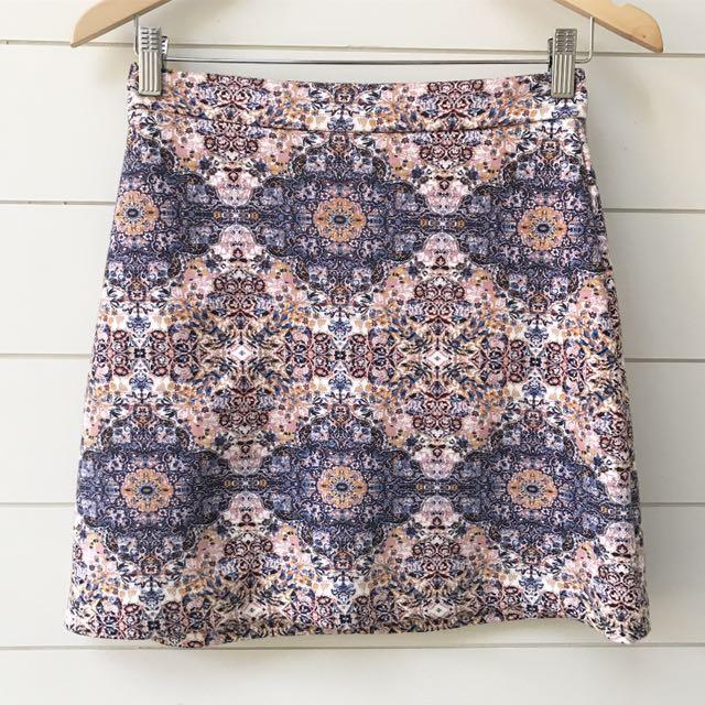 Sportsgirl pattern skirt