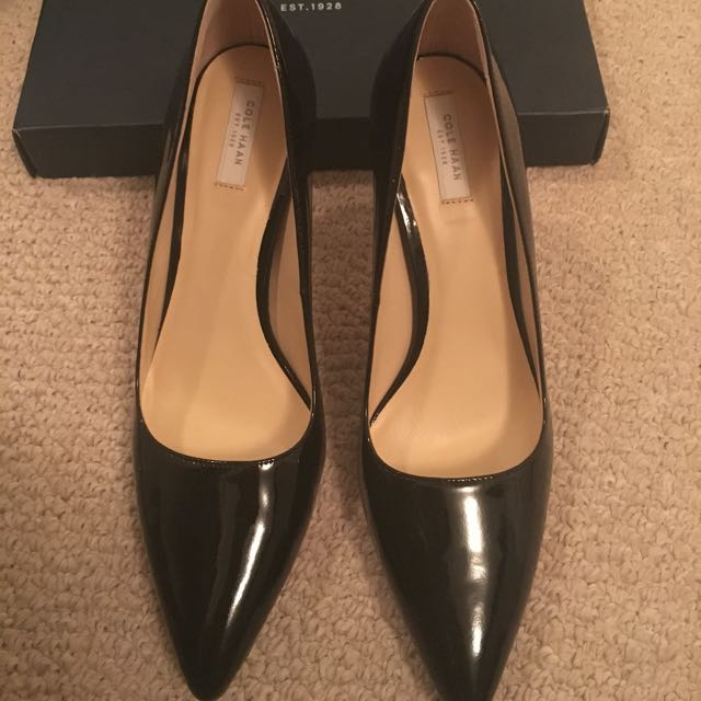 Stunning Bradshaw Cole Haan Pump Black Patent Leather