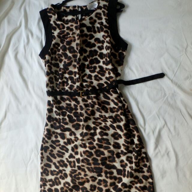 Tango Animal Print Shift Dress