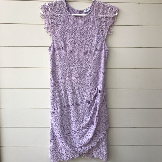 Tobi lilac purple lace dress