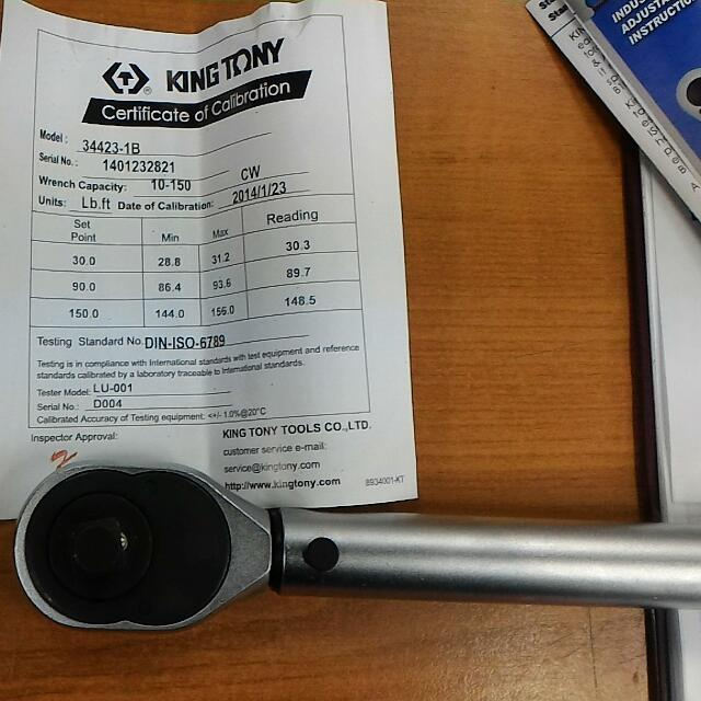 Torque Wrench ( King Tony Brand), Car Accessories on Carousell