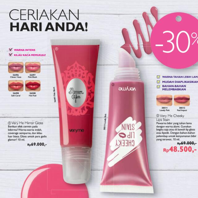 Very Me Lips STAIN and Lips Gloss ORIFLAME