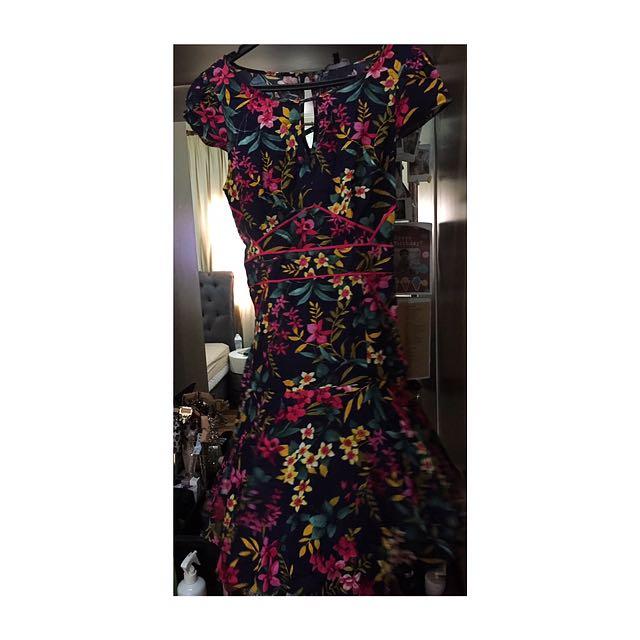 Warehouse Piped Mambo Tea Dress