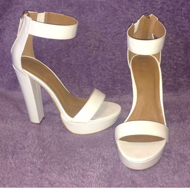 White Platform RubiShoes 38