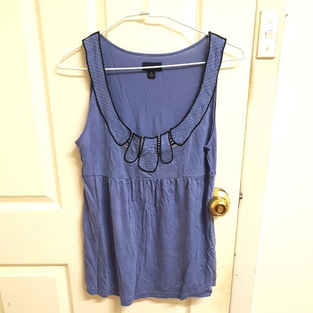 Witchery blue vest, size S