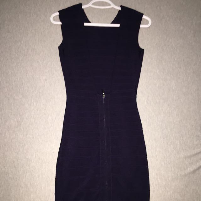 Xs Low Back - Dark Violet Dress