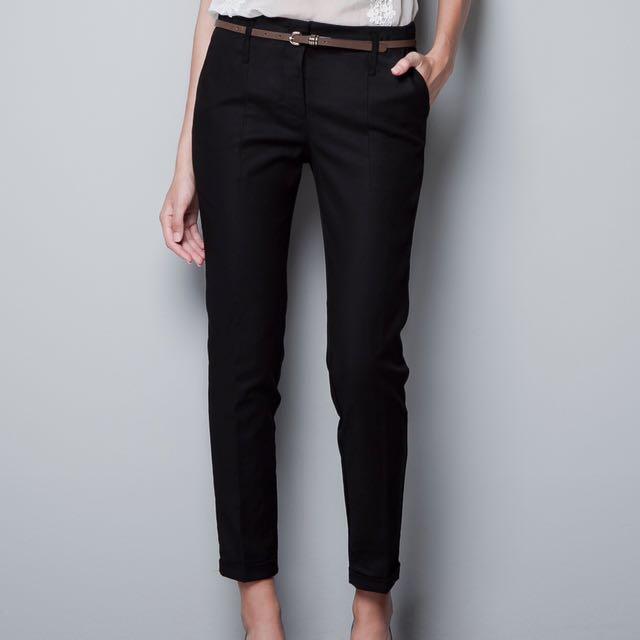 Zara Basic Black Pants Original