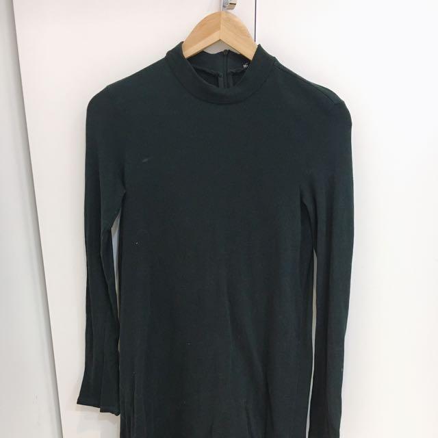 Zara Traluca 綠色高齡洋裝