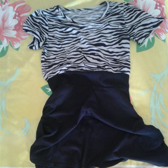 zebra dress no brand