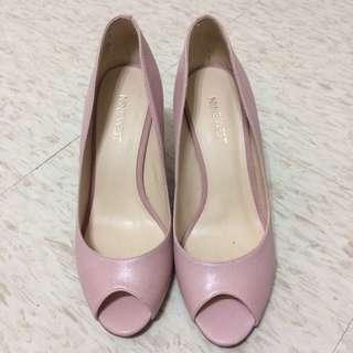 Nine West 粉紅色魚口高跟鞋#五百元好女鞋