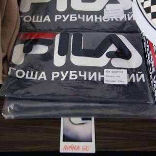 Gosha Rubchinskiy x FILA Logo Tee (navy)
