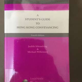 A Student's Guide To Hong Kong Conveyancing - Law 法律
