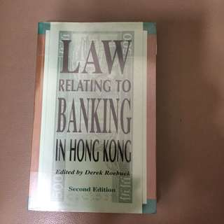 Law Relating To Banking In Hong Kong - Law 法律