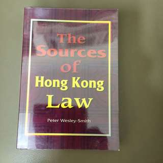 The Sources Of Hong Kong Law - Law 法律