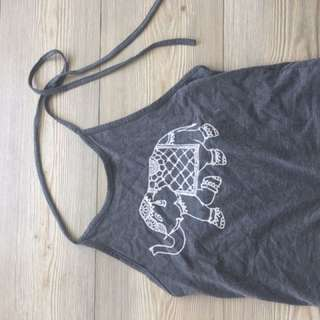 Cropped Shirt with elephant on it great for summertime!