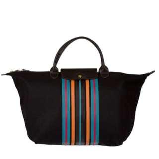 Longchamp 'Le Pliage' Striped Tote Bag