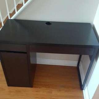 Black IKEA Micke Desk