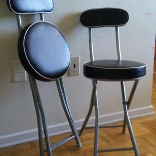 Black Leather Folding Chairs