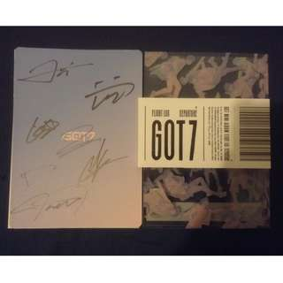 [Kpop] Got7 - Departure/Fly All Members Signed with photocard