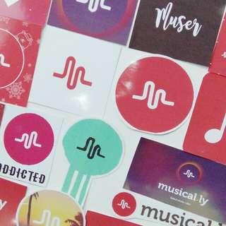 Stiker Musically Isi 15 Pcs