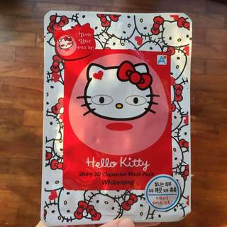 Hello kitty shiny 3D Character mask pack, WHITENING, 1 Piece, From Korea