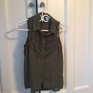 H&M Olive Green Blouse